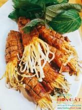 Bò cuộn kim châm nướng